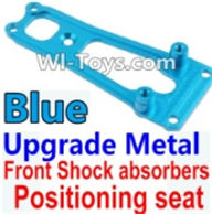 Wltoys K949 Parts-Upgrade Metal Front Shock absorbers Positioning seat-Blue,Wltoys K949 RC Car Parts,High speed 1:10 Scale 4wd,K949 Electric Power On Road Drift Racing Truck Car Parts
