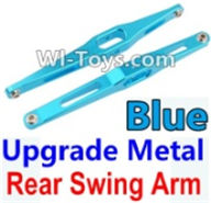 Wltoys K949 Parts-Upgrade Metal Rear Swing Arm-Blue-2pcs,Wltoys K949 RC Car Parts,High speed 1:10 Scale 4wd,K949 Electric Power On Road Drift Racing Truck Car Parts