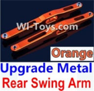 Wltoys K949 Parts-Upgrade Metal Rear Swing Arm-Orange-2pcs,Wltoys K949 RC Car Parts,High speed 1:10 Scale 4wd,K949 Electric Power On Road Drift Racing Truck Car Parts