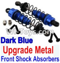 Wltoys K949 Parts-Upgrade Metal Front Shock Absorbers(2pcs)-Darke Blue,Wltoys K949 RC Car Parts,High speed 1:10 Scale 4wd,K949 Electric Power On Road Drift Racing Truck Car Parts