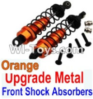 Wltoys K949 Parts-Upgrade Metal Front Shock Absorbers(2pcs)-Orange,Wltoys K949 RC Car Parts,High speed 1:10 Scale 4wd,K949 Electric Power On Road Drift Racing Truck Car Parts