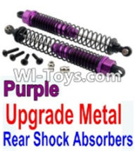Wltoys K949 Parts-Upgrade Metal Rear Shock Absorbers(2pcs)-Purple,Wltoys K949 RC Car Parts,High speed 1:10 Scale 4wd,K949 Electric Power On Road Drift Racing Truck Car Parts