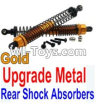 Wltoys K949 Parts-Upgrade Metal Rear Shock Absorbers(2pcs)-Gold,Wltoys K949 RC Car Parts,High speed 1:10 Scale 4wd,K949 Electric Power On Road Drift Racing Truck Car Parts