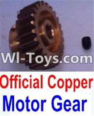 Wltoys K949 Parts-Official Copper Motor Gear,Wltoys K949 RC Car Parts,High speed 1:10 Scale 4wd,K949 Electric Power On Road Drift Racing Truck Car Parts