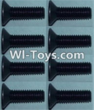 Wltoys K949 Parts-Flat head inner hexagon Screws-M3X10-(8pcs),Wltoys K949 RC Car Parts,High speed 1:10 Scale 4wd,K949 Electric Power On Road Drift Racing Truck Car Parts