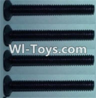 Wltoys K949 Parts-Flat head inner hexagon Screws-M4X32-(4pcs),Wltoys K949 RC Car Parts,High speed 1:10 Scale 4wd,K949 Electric Power On Road Drift Racing Truck Car Parts