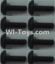 Wltoys K949 Parts-Pan head inner hexagon Screws-M2X6-(8pcs),Wltoys K949 RC Car Parts,High speed 1:10 Scale 4wd,K949 Electric Power On Road Drift Racing Truck Car Parts