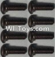 Wltoys K949 Parts-Pan head inner hexagon Screws-M2.5X6-(8pcs),Wltoys K949 RC Car Parts,High speed 1:10 Scale 4wd,K949 Electric Power On Road Drift Racing Truck Car Parts