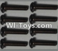 Wltoys K949 Parts-Pan head inner hexagon Screws-M2.5X12-(8pcs),Wltoys K949 RC Car Parts,High speed 1:10 Scale 4wd,K949 Electric Power On Road Drift Racing Truck Car Parts