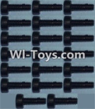 Wltoys K949 Parts-Cup head inner hexagon Screws M2X6-(20pcs),Wltoys K949 RC Car Parts,High speed 1:10 Scale 4wd,K949 Electric Power On Road Drift Racing Truck Car Parts