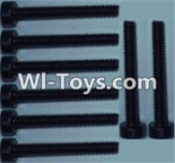 Wltoys K949 Parts-Cup head inner hexagon Screws-M2X16-(8pcs),Wltoys K949 RC Car Parts,High speed 1:10 Scale 4wd,K949 Electric Power On Road Drift Racing Truck Car Parts