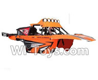 Wltoys K959 parts-Car Canopy,Car shell unit-(Include the shell,Rollcage,Doll)-Orange For WLtoys K959 1/12 1:12 RC Drift Car Parts desert Off Road Buggy parts