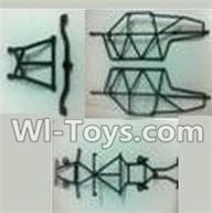 Wltoys K959 parts-Rollcage For WLtoys K959 1/12 1:12 RC Drift Car Parts desert Off Road Buggy parts