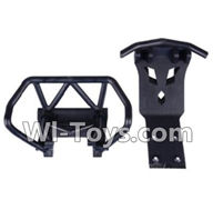 Wltoys K959 parts-Front and Rear anti-Collision board For WLtoys K959 1/12 1:12 RC Drift Car Parts desert Off Road Buggy parts