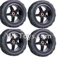 Wltoys K959 parts-Front Tire(2pcs) & Rear Tire(2pcs) For WLtoys K959 1/12 1:12 RC Drift Car Parts desert Off Road Buggy parts