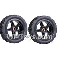 Wltoys K959 parts-Rear Tire(2pcs) For WLtoys K959 1/12 1:12 RC Drift Car Parts desert Off Road Buggy parts