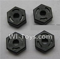 Wltoys K959 parts-Hexagon Wheel Seat(4pcs) For WLtoys K959 1/12 1:12 RC Drift Car Parts desert Off Road Buggy parts