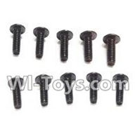 Wltoys K959 parts-Round Head Screw PWA Screw 2.5x6mm(10pcs) For WLtoys K959 1/12 1:12 RC Drift Car Parts desert Off Road Buggy parts