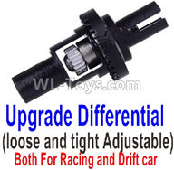 Wltoys K989 Parts-Upgrade Differential(loose and tight Adjustable)-Both For Racing and Drift car,1:28 Wltoys K989 RC Car Spare Parts Replacement accessories,1/28 Mini K989 On Road Drift Racing Truck Car Parts