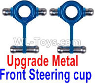 Wltoys K989 Upgrade Parts-Upgrade Metal Front Steering Cup(2pcs),1:28 Wltoys K989 RC Car Spare Parts Replacement accessories,1/28 Mini K989 On Road Drift Racing Truck Car Parts