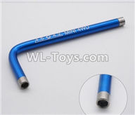 Wltoys K989 Upgrade Parts-L-Shap wrench-Blue,1:28 Wltoys K989 RC Car Spare Parts Replacement accessories,1/28 Mini K989 On Road Drift Racing Truck Car Parts