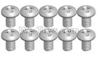 Wltoys K989 Upgrade Parts-K989-14 Screws(10pcs)-2X4PM,1:28 Wltoys K989 RC Car Spare Parts Replacement accessories,1/28 Mini K989 On Road Drift Racing Truck Car Parts