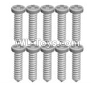 Wltoys K989 Upgrade Parts-K989-16 Screws(10pcs)-1.3X7PB,1:28 Wltoys K989 RC Car Spare Parts Replacement accessories,1/28 Mini K989 On Road Drift Racing Truck Car Parts