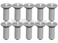 Wltoys K989 Upgrade Parts-K989-21 Screws(10pcs)-2X6KB,1:28 Wltoys K989 RC Car Spare Parts Replacement accessories,1/28 Mini K989 On Road Drift Racing Truck Car Parts