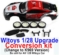 Wltoys K989 Upgrade Conversion kit-Upgrade K969 Version,Be suit for All Wltoys 1/28 Wltoys Car