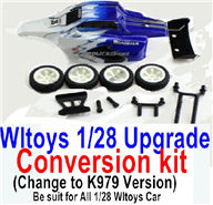 Wltoys K989 Upgrade Conversion kit-Upgrade K979 Version-Blue Color,Be suit for All Wltoys 1/28 Wltoys Car