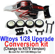 Wltoys K989 Upgrade Conversion kit-Upgrade K979 Version-Red Color,Be suit for All Wltoys 1/28 Wltoys Car