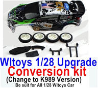 Wltoys K989 Upgrade Conversion kit-Upgrade K989 Version,Be suit for All Wltoys 1/28 Wltoys Car