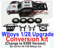 Wltoys K989 Upgrade Conversion kit-Upgrade K999 Version,Be suit for All Wltoys 1/28 Wltoys Car