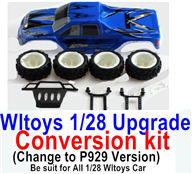 Wltoys K989 Upgrade Conversion kit-Upgrade P929 Version-Blue color,Be suit for All Wltoys 1/28 Wltoys Car