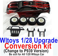Wltoys K989 Upgrade Conversion kit-Upgrade P939 Version-Red color,Be suit for All Wltoys 1/28 Wltoys Car