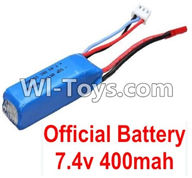 Wltoys K979 Parts-Battery,WLtoys 7.4V 400mAh For WLtoys K979 1:28 RC Drift Car Parts desert Off Road Buggy parts