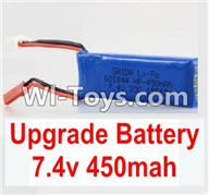 Wltoys K979 Parts-Upgrade Battery,7.4V 450MAH Battery For WLtoys K979 1:28 RC Drift Car Parts desert Off Road Buggy parts