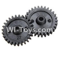 Wltoys K989 Parts-Reduction gear(2PCS) For WLtoys K989 1:28 rc Drift Car Parts desert Off Road Buggy parts
