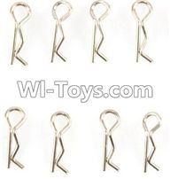 Wltoys K989 Parts-Clips,R Clip,sR-type pin(8PCS) For WLtoys K989 1:28 rc Drift Car Parts desert Off Road Buggy parts