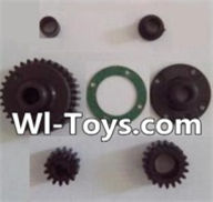 Wltoys L303 Parts-Transmission gear(Total 7pcs),Wltoys L303 RC Car Spare Parts Replacement Accessories,1:10 Scale 4wd,2.4G L303 rc racing car Parts,On Road Drift Racing Truck Car Parts
