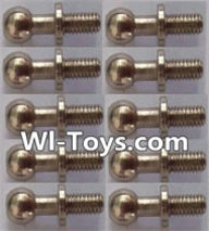 Wltoys L303 Parts-Ball head screws(10pcs)-φ4.9X13mm,Wltoys L303 RC Car Spare Parts Replacement Accessories,1:10 Scale 4wd,2.4G L303 rc racing car Parts,On Road Drift Racing Truck Car Parts