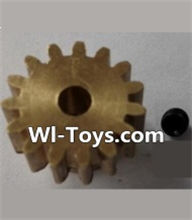 Wltoys L303 Parts-P949-26 15T Motor Gear(15 Teeth)-hole diameter 3.17mm,M-0.8,Wltoys L303 RC Car Spare Parts Replacement Accessories,1:10 Scale 4wd,2.4G L303 rc racing car Parts,On Road Drift Racing Truck Car Parts