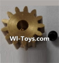 Wltoys L303 Parts-P949-27 13T Motor Gear(13 Teeth)-hole diameter 3.17mm,M-0.8,Wltoys L303 RC Car Spare Parts Replacement Accessories,1:10 Scale 4wd,2.4G L303 rc racing car Parts,On Road Drift Racing Truck Car Parts