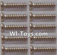 Wltoys L303 Parts-Countersunk self tapping screws(10pcs)-1.7x8KB,Wltoys L303 RC Car Spare Parts Replacement Accessories,1:10 Scale 4wd,2.4G L303 rc racing car Parts,On Road Drift Racing Truck Car Parts