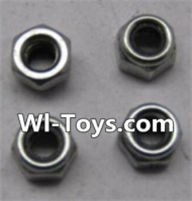 Wltoys L303 Parts-K949-108 M2.5 lock nut(4pcs),Wltoys L303 RC Car Spare Parts Replacement Accessories,1:10 Scale 4wd,2.4G L303 rc racing car Parts,On Road Drift Racing Truck Car Parts