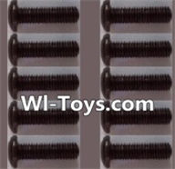 Wltoys L303 Parts-A929-74 pan head Hexagon head screws(10pcs)-M3x12TMHO,Wltoys L303 RC Car Spare Parts Replacement Accessories,1:10 Scale 4wd,2.4G L303 rc racing car Parts,On Road Drift Racing Truck Car Parts