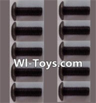 Wltoys L303 Parts-A929-75 pan head Hexagon head screws(10pcs)-M3x10TMHO,Wltoys L303 RC Car Spare Parts Replacement Accessories,1:10 Scale 4wd,2.4G L303 rc racing car Parts,On Road Drift Racing Truck Car Parts
