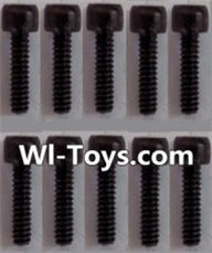 Wltoys L303 Parts-K939-63 Cup head Hexagon machine screws(10pcs)-M3x8,Wltoys L303 RC Car Spare Parts Replacement Accessories,1:10 Scale 4wd,2.4G L303 rc racing car Parts,On Road Drift Racing Truck Car Parts
