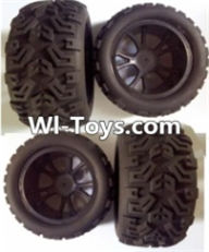Wltoys L313 Parts-Front wheel(2pcs) & Rear wheel(2pcs),Wltoys L313 RC Car Spare Parts Replacement Accessories,1:10 Scale 4wd,2.4G L313 rc racing car Parts,On Road Drift Racing Truck Car Parts