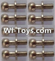 Wltoys L313 Parts-Ball head screws(10pcs)-φ4.9X13mm,Wltoys L313 RC Car Spare Parts Replacement Accessories,1:10 Scale 4wd,2.4G L313 rc racing car Parts,On Road Drift Racing Truck Car Parts
